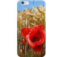 Poppies On The Field iPhone Case/Skin