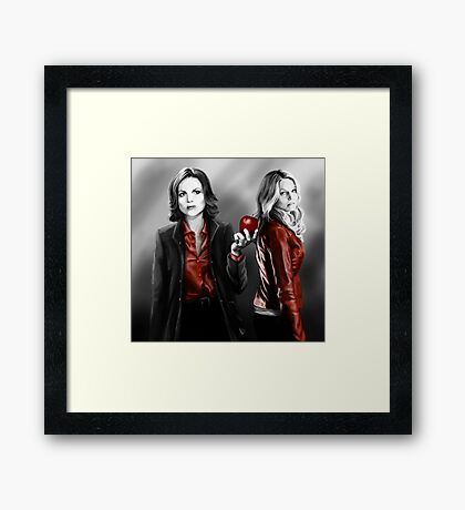 Emma and Regina and Red Framed Print