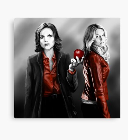 Emma and Regina and Red Canvas Print