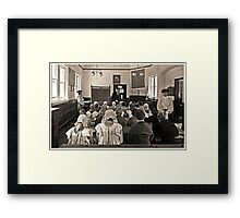 School for Thought Framed Print