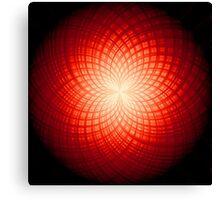 abstract radial geometric design Canvas Print