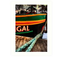 """Fingal"" barge on Caledonian Canal Art Print"