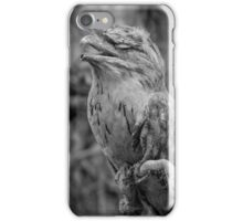 Tawny Frogmouth BW iPhone Case/Skin