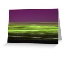 Light/dark photography series #5 (green and purple) Greeting Card