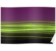 Light/dark photography series #5 (green and purple) Poster