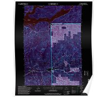 USGS Topo Map Oregon Cascadia 279287 1994 24000 Inverted Poster