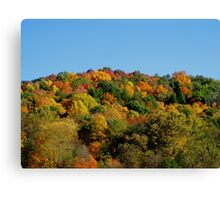 Colorful October in Conkles Hollow Hocking Hills Ohio Canvas Print