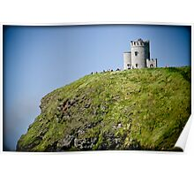 Ireland cliff Poster