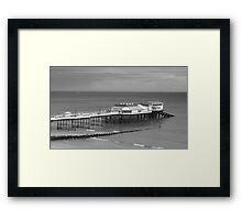 Monochrome Pier at Cromer Framed Print