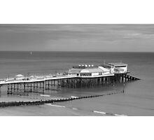 Monochrome Pier at Cromer Photographic Print