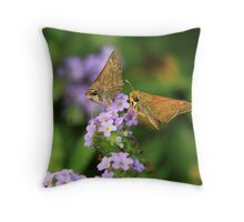 Insects on the flower Throw Pillow