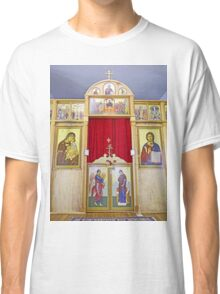 Icons on the Templon of Russian Orthodox Cathedral, Kodiak Classic T-Shirt