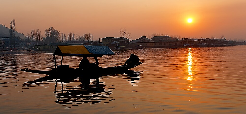 Sunset at Dal Lake by Mukesh Srivastava