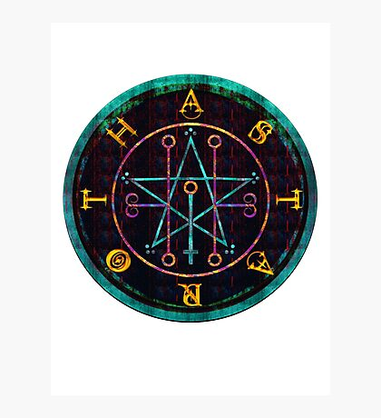 SEAL OF ASTAROTH - cold Photographic Print