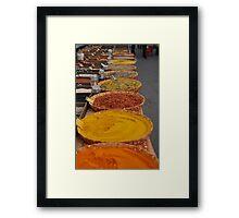 Arles Market - Spices 1 Framed Print