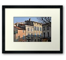 Pastel Light and Shadows in Arles Framed Print