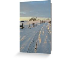 A winter's journey.... Greeting Card