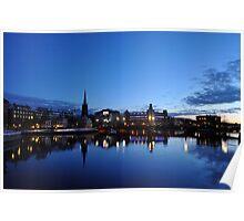 Reflection at Dusk, Stockholm Poster