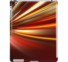 acceleration of the motion on the night road iPad Case/Skin