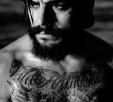 Beard Tattoo Male Portrait Sticker