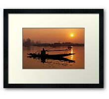 Sunset at Dal Lake #2 Framed Print