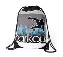 parkour*_blue3 Drawstring Bag
