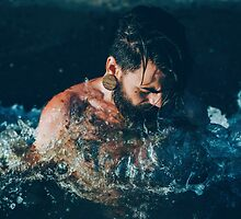 Tattoo Male Portrait - In to the Water by MS-Photographie