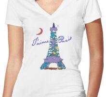 T'aime Paris Women's Fitted V-Neck T-Shirt
