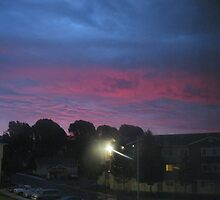 Purple sky of Christmas morning by kevin seraphin