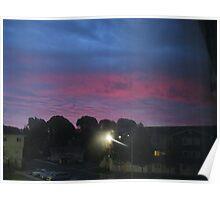 Purple sky of Christmas morning Poster