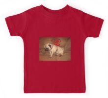 Pug with a Bow Kids Tee