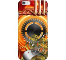 abstract steampunk machine  iPhone Case/Skin