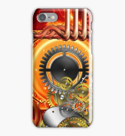 abstract steampunk machine  iPhone Case/Skin