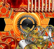 abstract steampunk machine  by Orderposter