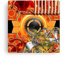 abstract steampunk machine  Canvas Print