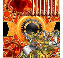 abstract steampunk machine  Photographic Print