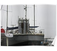 A ship in drydock  Poster