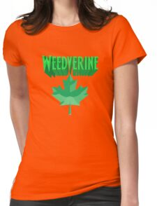 Weedverine Green Maple Leaf Womens Fitted T-Shirt