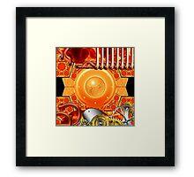 abstract steampunk mechanism Framed Print