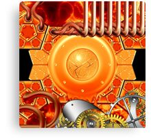 abstract steampunk mechanism Canvas Print