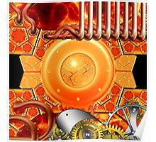 abstract steampunk mechanism Poster