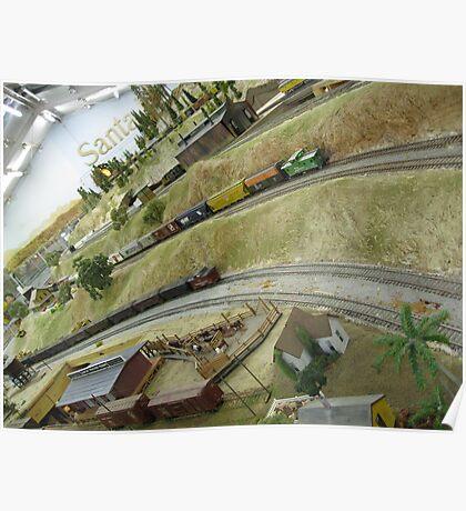 Longview trainset landscape Poster