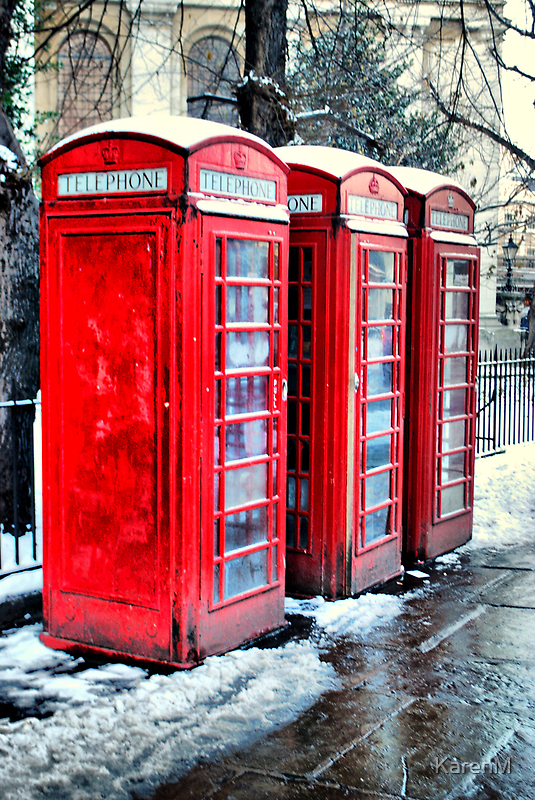 Three Telephone Boxes by Karen Martin