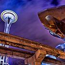 Space Needle - Monorail - EMP by David Preston