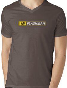 I AM FLASHMAN Mens V-Neck T-Shirt