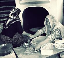 Women makes gözleme. by rasim1