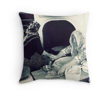 Women makes gözleme. Throw Pillow