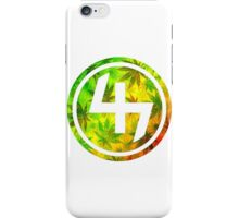 47 RED YELLOW GREEN RASTAFARIAN WEED CIRCLE  iPhone Case/Skin