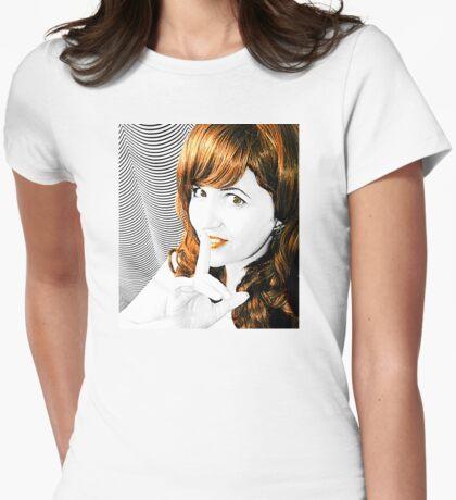 SHH! Selfie Womens Fitted T-Shirt