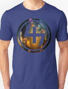 47 ORANGE BLUE AND GOLD NEBULA CIRCLE Unisex T-Shirt
